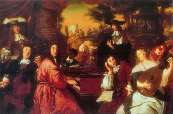 Buxtehude and Reincken painting Musical_Company_by_Johannes_Voorhout_(1674).jpg